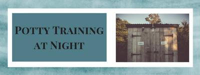 Potty training at night banner